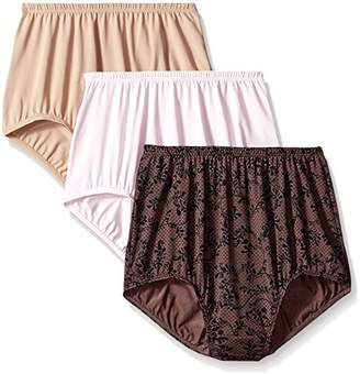 Olga Women's 3 Pack Without A Stitch Brief Panty $14.55 thestylecure.com