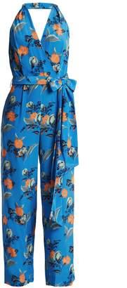 Diane von Furstenberg Silese-print wide-leg silk jumpsuit