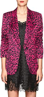 Robert Rodriguez Women's Leopard-Print Satin Single-Button Blazer