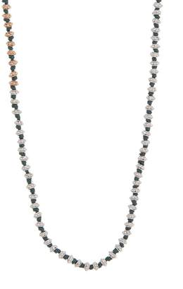 Armenta New World 14K Gold & Sterling Silver Flower Beaded Silk Necklace