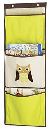 Whitmor Kid's Canvas Over-the-Door Wall Organizer-Brown Owl