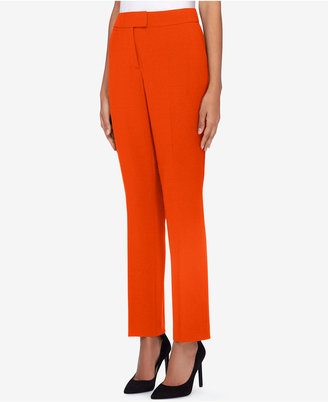 Tahari Asl Stretch Crepe Straight-Leg Pants $89 thestylecure.com
