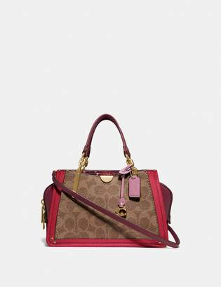 Coach Dreamer 21 In Signature Canvas With Snakeskin Detail