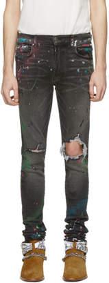 Amiri Grey Graffiti Jeans