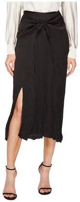 Vince Pleated Tie Front Skirt Women's Skirt