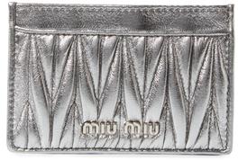 Miu MiuMatelassé Leather Card Holder