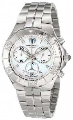Technomarine Sea Pearl Chrono Women's Quartz Watch with Mother of Pearl Dial Chronograph Display and Silver Stainless Steel Bracelet 713012