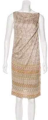 Missoni Metallic Draped Dress