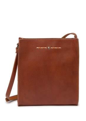Most Wanted Design by Carlos Souza Minimal Stitch & Stud Leather Crossbody