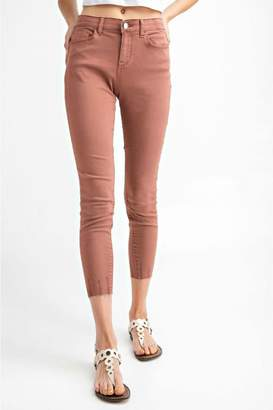 Easel Cut-Edge Stretch Jeggings