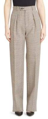 Givenchy Wide-Leg Check Pants