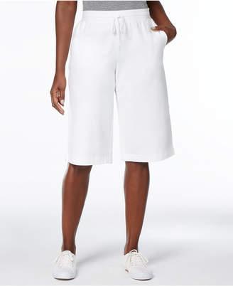 Karen Scott Petite Drawstring Skimmer Pants, Created for Macy's