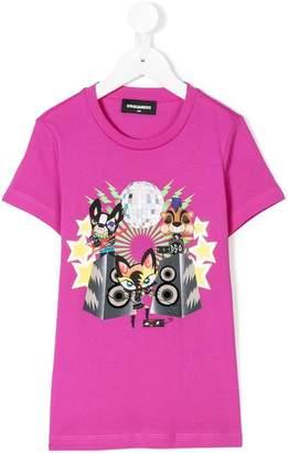 DSQUARED2 TEEN music print T-shirt