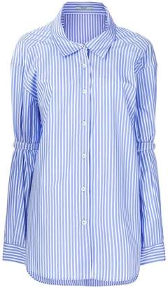 Prada pinstriped oversized shirts