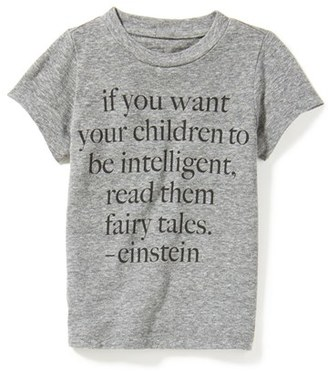 Infant Boy's Peek Einstein Fairy Tales Quote T-Shirt $28 thestylecure.com