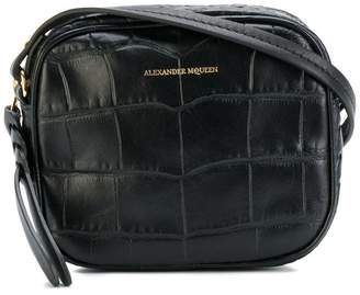 Alexander McQueen crocodile effect crossbody bag