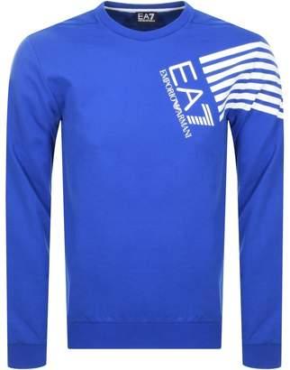 Emporio Armani Ea7 EA7 Logo Sweatshirt Blue