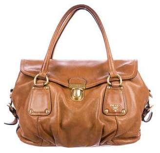 a1c08aa2c188 Prada Cervo Shine Handle Bag