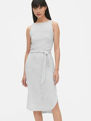5dcfdce807e6e0 Gap Softspun Sleeveless Tie-Belt Midi Dress