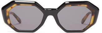 Garrett Leight Jacqueline Acetate Sunglasses - Womens - Black