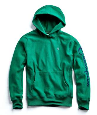 Todd Snyder + Champion Champion Graphic Hoodie in Turf Green