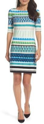 Eliza J Print Shift Dress