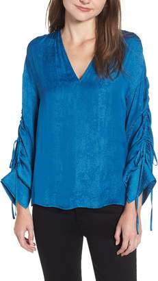 Chelsea28 Shirred Tie Sleeve Top