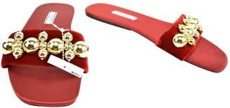 Prada Red Velvet Sandals