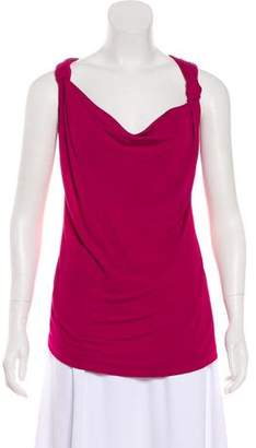 Gianfranco Ferre Sleeveless Draped Top