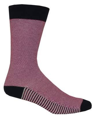 Ted Baker Textured Print Organic Cotton Men's Socks