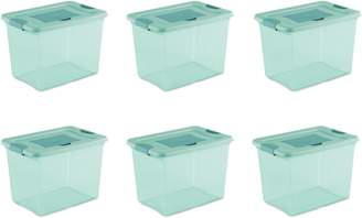 Sterilite 25 Qt Fresh Scent Storage Box, Aqua Tint (Available in Case of 6 or Single Unit)