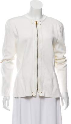 Tom Ford Structured Leather Trim Jacket