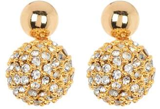 Rebecca Minkoff Mini Double Sphere Crystal Pave Earrings