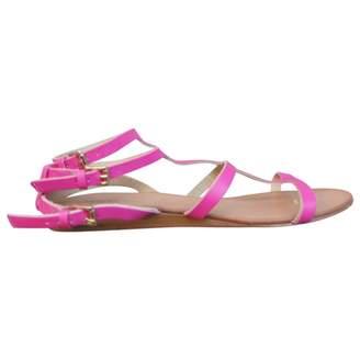 Maje Leather Gladiator Sandals.