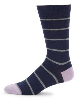 Striped Mid-Calf Socks $20 thestylecure.com