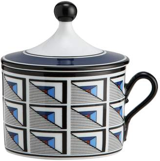 Richard Ginori Aurea Geometric Coffee Cup and Lid