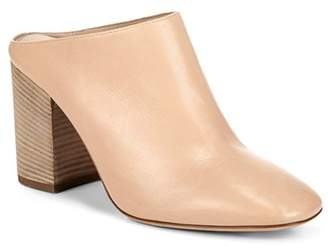 Vince Women's Faris Leather Block Heel Mules