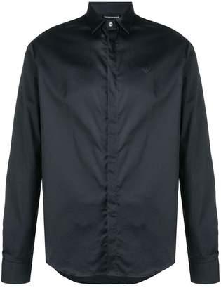 Emporio Armani contrast stripe slim-fit shirt