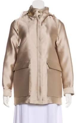 Versace Hooded Zip-Up Jacket