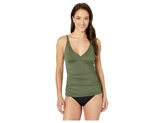 Tommy Bahama Pearl Over the Shoulder V-Neck Long Tankini