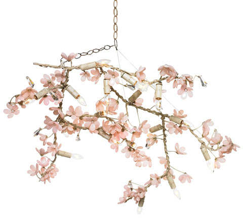 Ornella Flowering Branches II Chandelier in Custom Colors