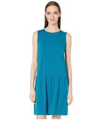 Eileen Fisher Fine Tencel Jersey Stretch Round Neck Mini Dress
