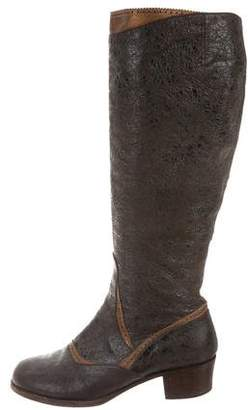 Dries Van Noten Distressed Leather Boots