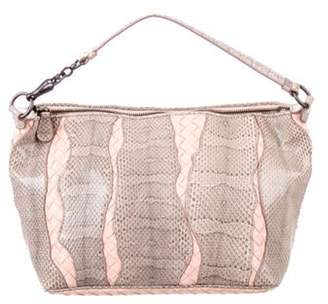 Bottega Veneta Small Snakeskin Intrecciato Bag grey Small Snakeskin Intrecciato Bag