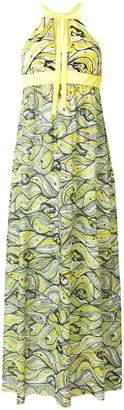 M Missoni floral flared maxi dress