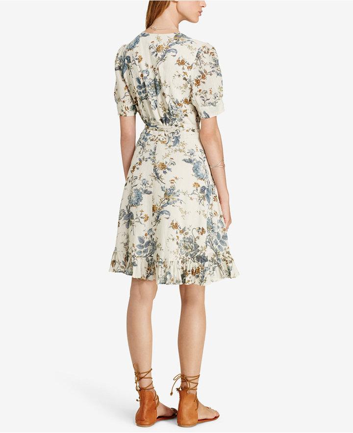 Denim & Supply Ralph Lauren Floral-Print Gauze Wrap Dress 2