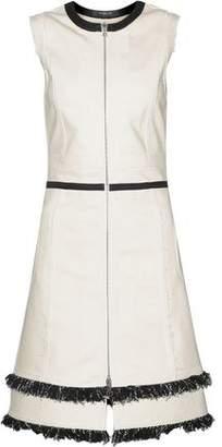 Derek Lam Fringed Cotton-Blend Canvas Dress