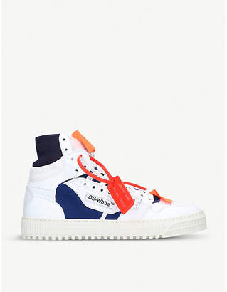 Off-White Low 3.0 leather high-top trainers