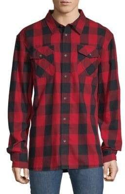 True Religion Plaid Cotton Button-Down Shirt