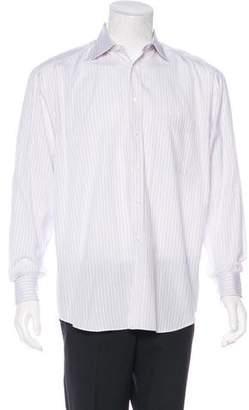 Canali Striped French Cuff Shirt